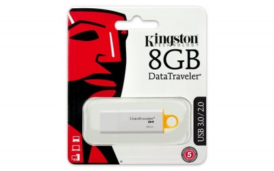 "Pendrive, 8GB, USB 3.0, KINGSTON ""DTI G4"", sárga"